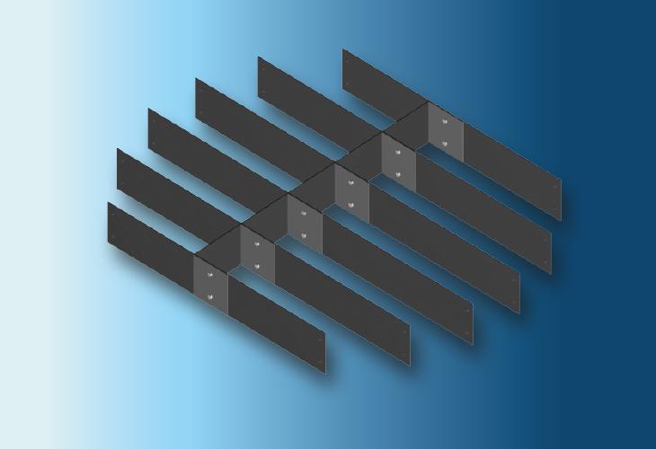 Raschig-Super Grid Support Plate Type RSG (in plastic), Ø > 500 mm für Kunststoffpackungen