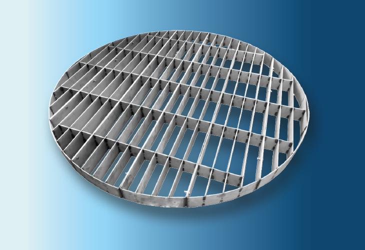 Niederhalterost Type HP-P, Ø > 100 mm für strukturierte Packungen