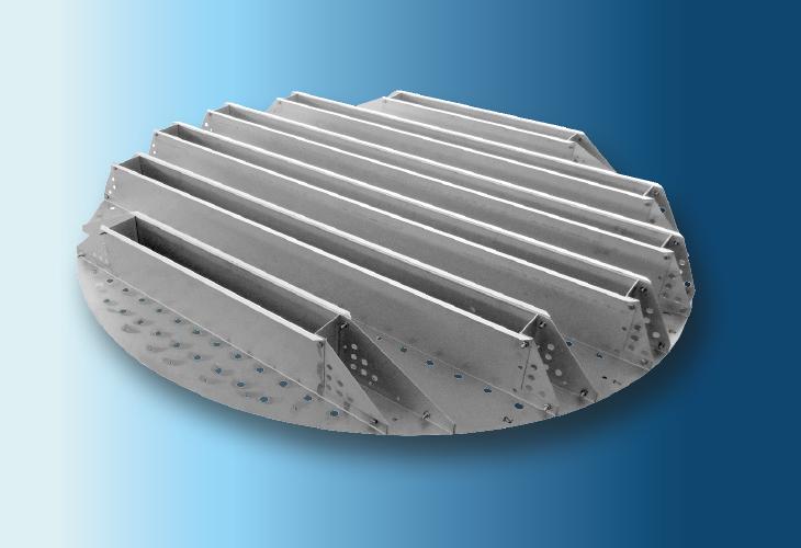 Flüssigkeitswiederverteiler Type RP-1, Ø > 1200 mm