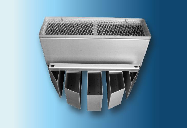Hochleistungs-Flüssigkeitsverteiler Type DT-W, Ø > 300 mm Mittlere Flüssigkeitsmengen