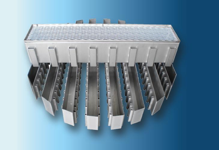 Hochleistungs-Flüssigkeitsverteiler Type DT-S, Ø > 300 mm Niedrige bis mittlere Flüssigkeitsmengen