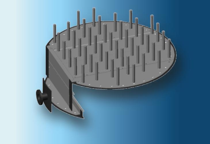 Gasverteiler Type GV-P3, Ø > 800 mm Niedrigste Gasflussraten