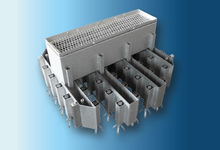 Hochleistungs-Flüssigkeitsverteiler Type Multi-Flow DT-MF, Ø > 500 mm Sehr niedrige Flüssigkeitsmengen