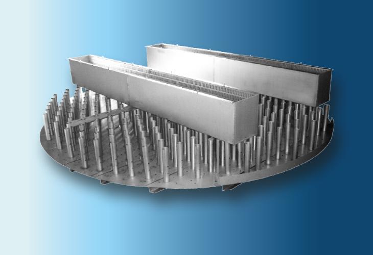 Hochleistungs-Flüssigkeitsverteiler Type RP-P2, Ø > 300 mm Hohe Flüssigkeitsmengen neben niedriger Gaselastizität