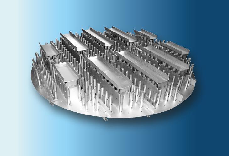 Hochleistungs-Flüssigkeitsverteiler Type RP-S, Ø > 300 mm Niedrige bis mittlere Flüssigkeitsmengen