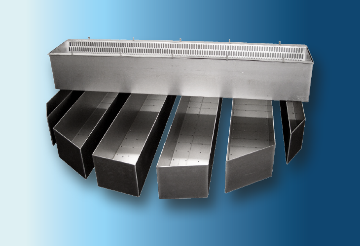 Kastenrinnen-Verteiler Type DT-1, Ø > 800 mm