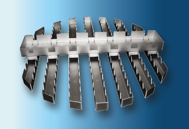 Kastenrinnen-Verteiler Type DT-2, Ø > 800 mm für stark verschmutzende Systeme