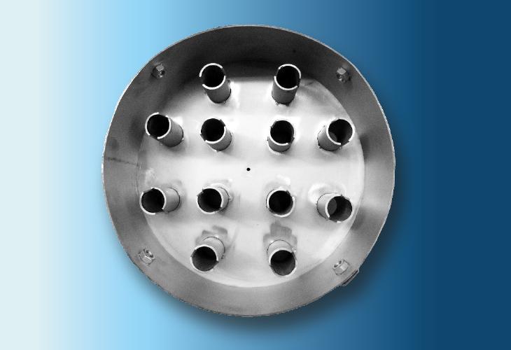 Lochbodenverteiler mit Gaskaminen Type DR-3, 100 mm < Ø < 1200 mm Für stark verschmutzende Systeme
